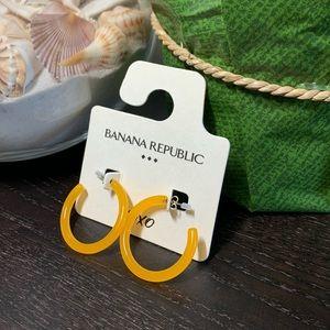 Neon Resin Hoop Earrings Orange BANANA REPUBLI NWT